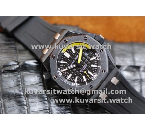 "1:1 AUDEMARS PIGUET ROYAL OAK OFF SHORE DIVER FORGED CARBON V4 LATEST EDITIOND FROM 'NOOB"". A2824"