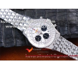 "BREITLING NAVITIMER 01 SS/SS WHITE A7750 AUTOCHRONO 1:1 FROM ""JF"""