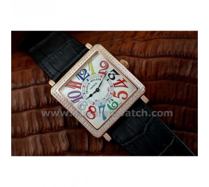 FRANCK MULLER MASTER SQUARE COLOR DREAMS ROSE GOLD FOR LADY