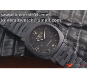 "PANERAI PAM438 O REAL CERAMIC 1:1 BEST EDITION ON CERAMIC BRACELET P.9001/B SUPER CLONE FOR ""VSF"""