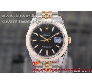DATEJUST 40MM 18K YG WRAPPED 3A BEST EDITION BLACK DIAL ON NEW VERSION JUBILEE BRACELET