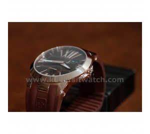 ULYSSE NARDIN EXECUTIVE DUAL TIME RG/RB BROWN