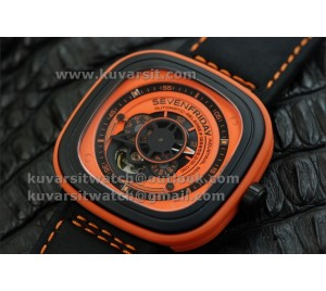 SEVENFRIDAY P1-3 1:1 BEST VERSION WITH MIYOTA 82S7 ORANGE DIAL
