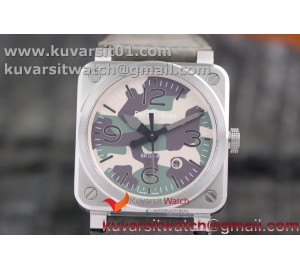 BR 03-92 SS CASE V3 GREEN CAMOUFLAGE DIAL 42.5MM ON RUBBER STRAP MIYOTA 9015