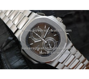 PATEK PHILIPPE NAUTILUS CHRONOGRAPH TRAVEL TIME  5990A BROWN..Q.C